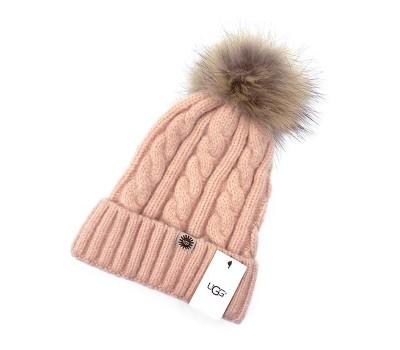 Шапка UGG - Розовая