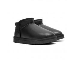 Мужские угги Ultra mini Leather - Black