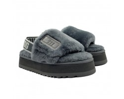Disco Slide Sandal - Dark Grey