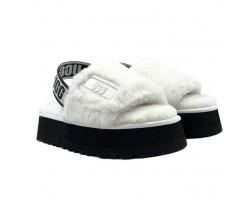 Disco Slide Sandal - White