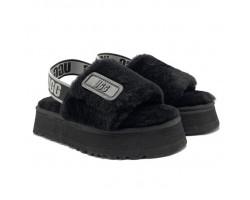 Disco Slide Sandal - Black