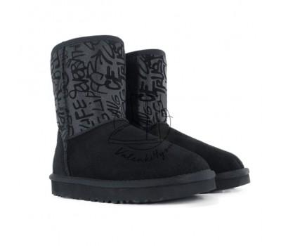 Угги Classic Short Sparkle Graffiti Boot - Black