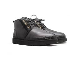 Мужские Кожаные Ботинки Neumel II - Black