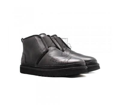 Мужские Кожаные Ботинки Neumel Flex - Black