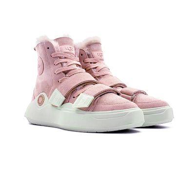 Женские кроссовки UGG на шнурках  и липучках UGG Sneakers Sioux Trainer - Pink