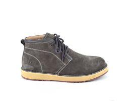 Мужские ботинки на шнуровке с мехом Lowa - Grey