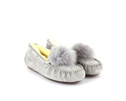 Женские Мокасины Dakota Pom-Pom - Light Grey