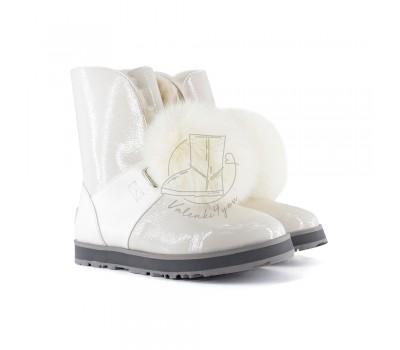 ISLEY PATENT WATERPROOF BOOT - White