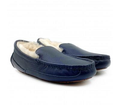 Мужские кожаные мокасины Ascot  - Синие