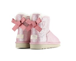 Угги Мини Bailey Bow Sparkle - Pink