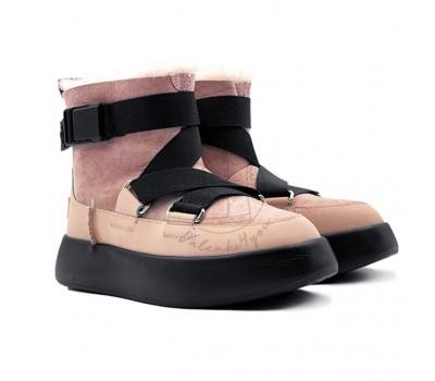 Женские Ботинки UGG Boom Buckle Boots - Pink Crystal уже в наличии valenki4you.ru