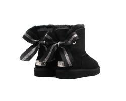 Угги Мини Bailey Bow Customizable - Black