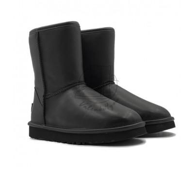 Угги Classic Short Leather - Black