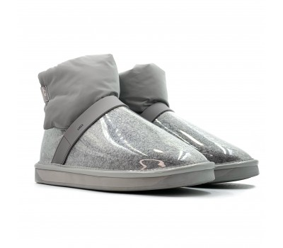 Clear Quilty Boot - Grey