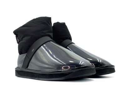 Clear Quilty Boot - Black