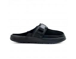 Мужские меховые тапочки Kick It Slide - Чёрный