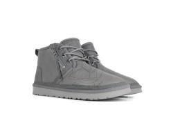Мужские Кожаные Ботинки Neumel Zip - Dark Grey