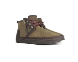 Мужские Кожаные Ботинки Neumel Zip - Grizzly