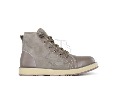 Женские ботинки на шнуровке с мехом Navajo - Chocolate