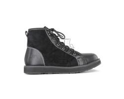 Мужские ботинки на шнуровке с мехом Navajo - Black