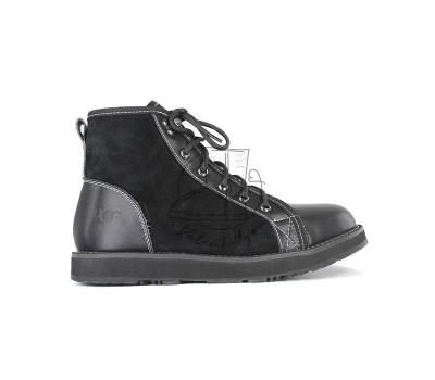Женские ботинки на шнуровке с мехом Navajo - Black