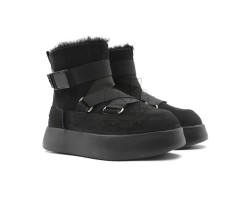 Женские UGG Boom Buckle Boot - Black