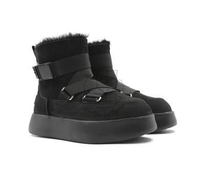 Женские Ботинки UGG Boom Buckle Boots - Black уже в наличии valenki4you.ru
