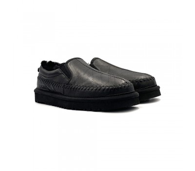 Низкие слиперы Stitch Slip Leather - Black
