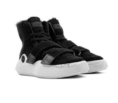 Женские кроссовки UGG на шнурках  и липучках UGG Sneakers Sioux Trainer - Black