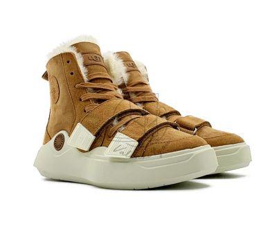 Женские кроссовки UGG на шнурках  и липучках UGG Sneakers Sioux Trainer - Chestnut