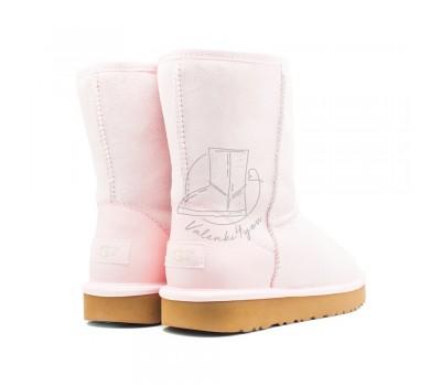 Угги Короткие Metallic II - Seashell Pink