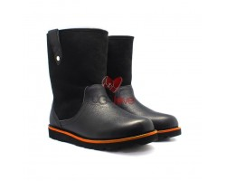 Мужские кожаные ботинки Stoneman - Чёрные
