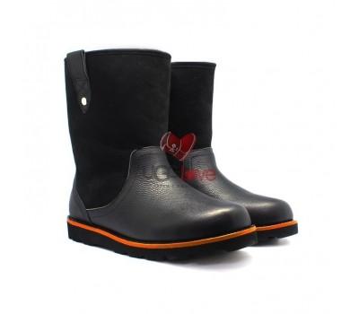 Мужские ботинки Cтонмен кожаные/замшевые черные