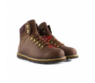 Мужские ботинки на шнуровке с мехом Capulin - Шоколадные