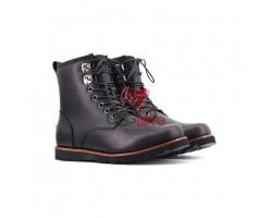 Мужские ботинки на шнуровке с мехом Hannen TL - Черные
