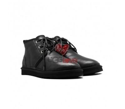 Мужские Кожаные Ботинки Neumel - Черные